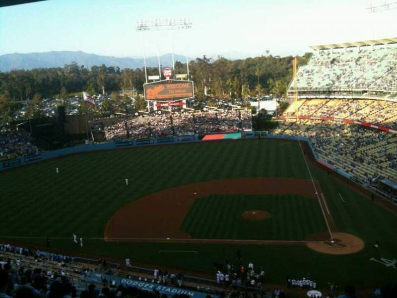 Seating view for Dodger Stadium Section 11RS Row V Seat 2