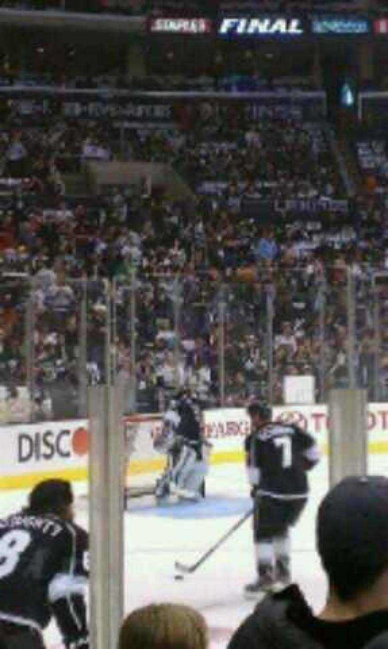 Seating view for Staples Center Section 102 Row 4 Seat 5