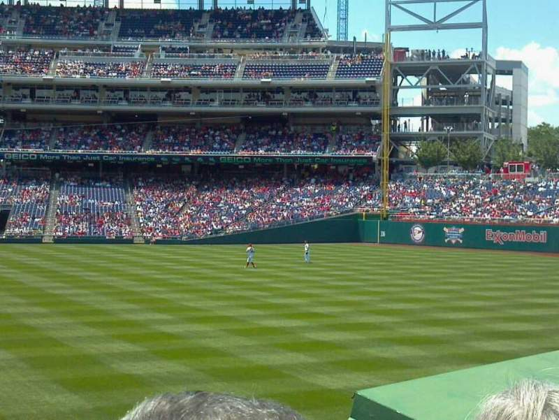 Seating view for Nationals Park Section 140 Row B Seat 13