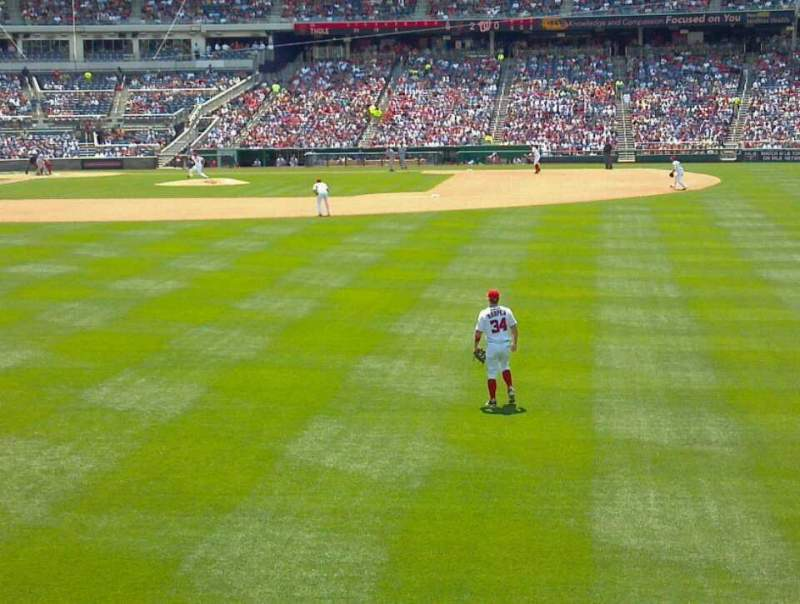Seating view for Nationals Park Section 140 Row B Seat 11