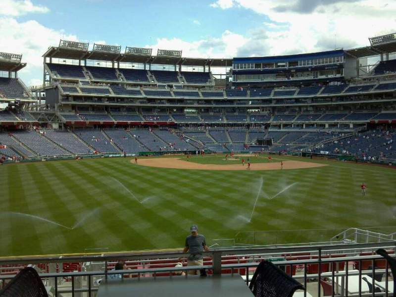Seating view for Nationals Park Section Inside Red Porch