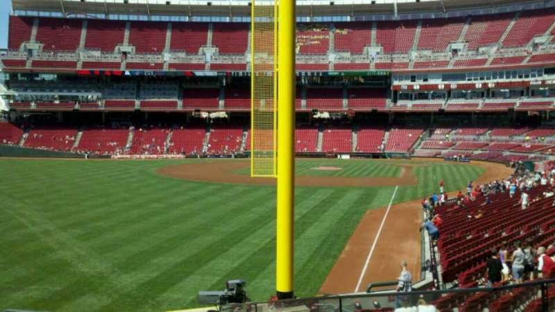 Seating view for Great American Ball Park Section 106 Row Q Seat 1