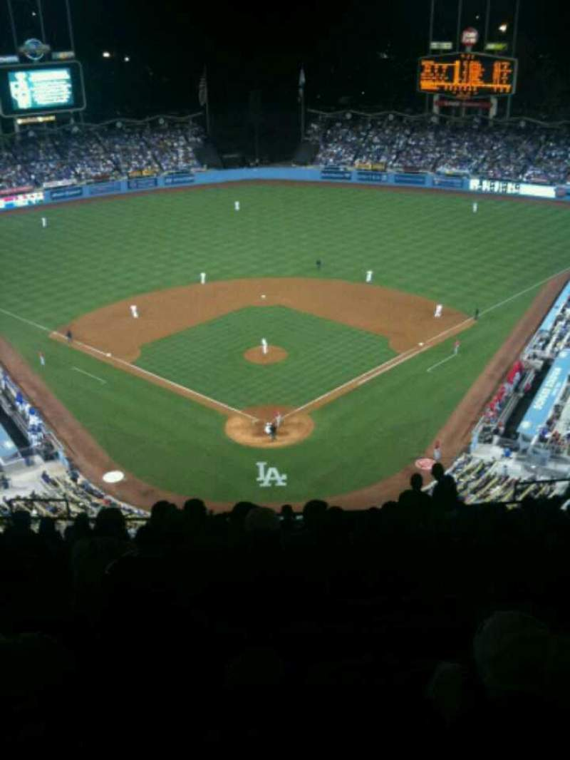 Seating view for Dodger Stadium Section 1TD Row R Seat 12