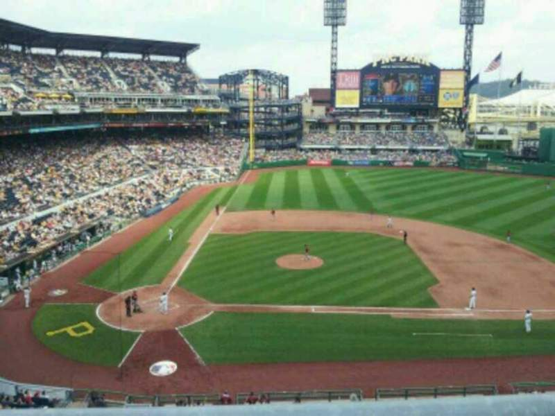 Seating view for PNC Park Section 211 Row A Seat 5