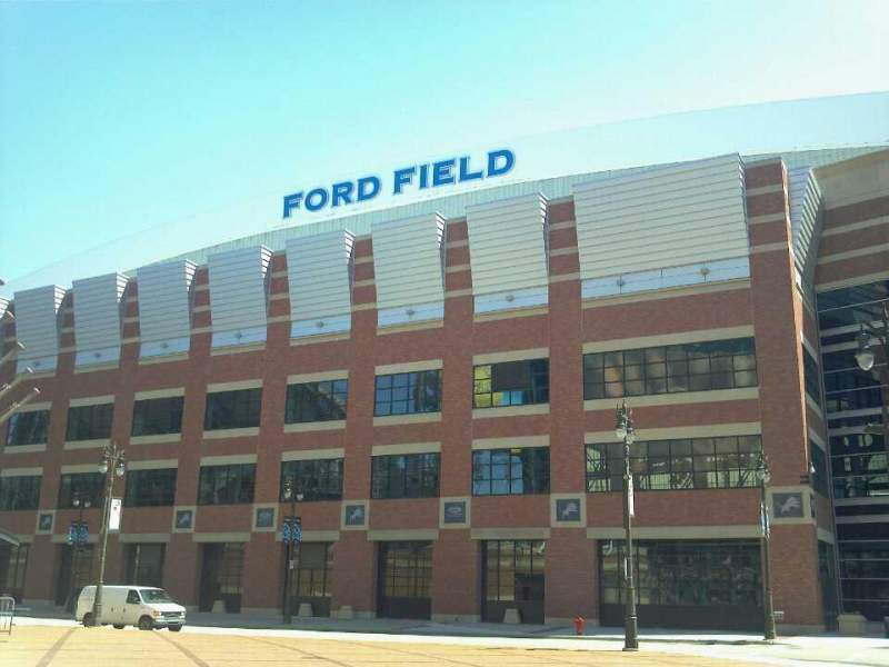 Seating view for Ford Field Section Outside