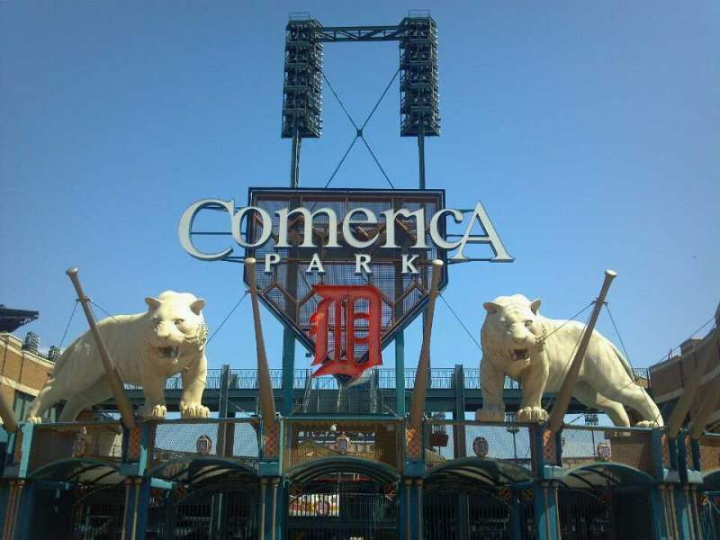 Seating view for Comerica Park Section Entrance