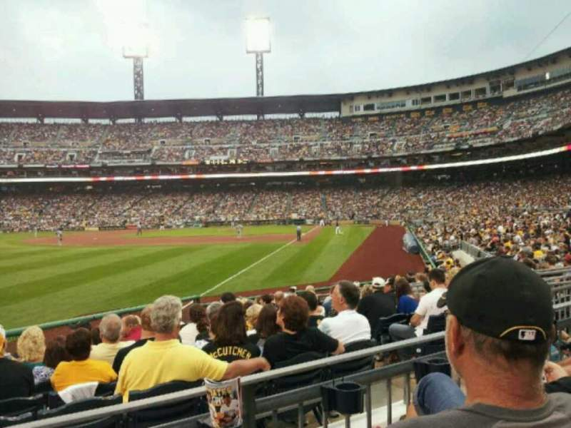 Seating view for PNC Park Section 131 Row B Seat 16