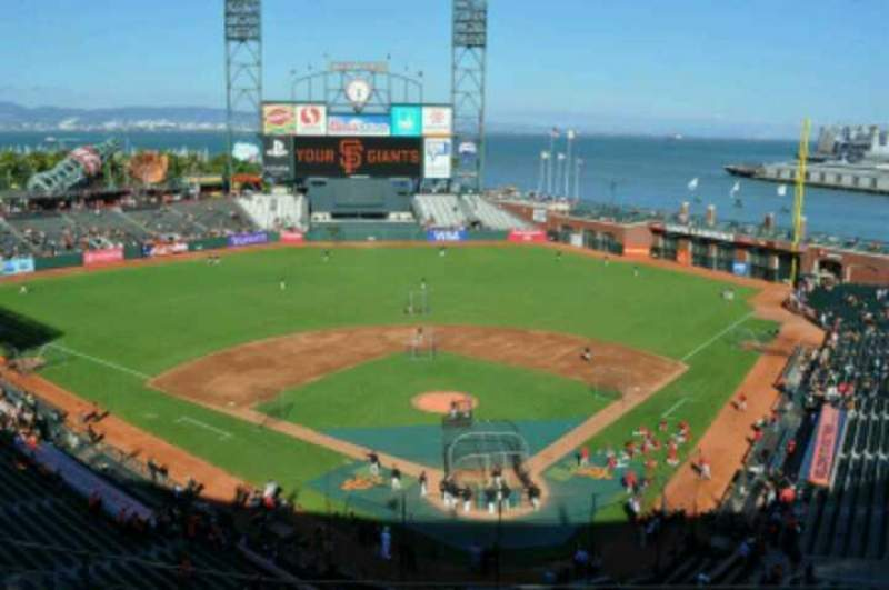 Seating view for AT&T Park Section 317 Row 11 Seat 9