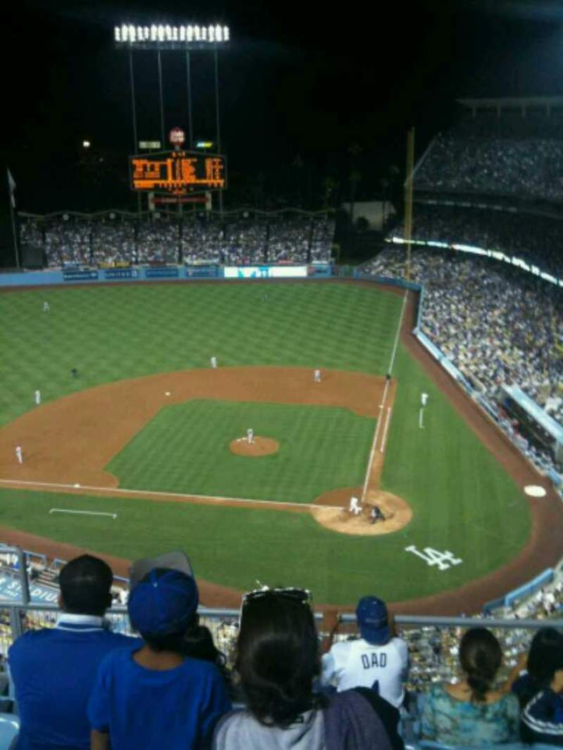 Seating view for Dodger Stadium Section 9TD Row F Seat 17