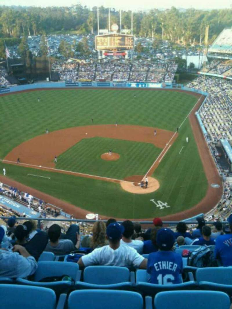 Seating view for Dodger Stadium Section 7TD Row K Seat 11