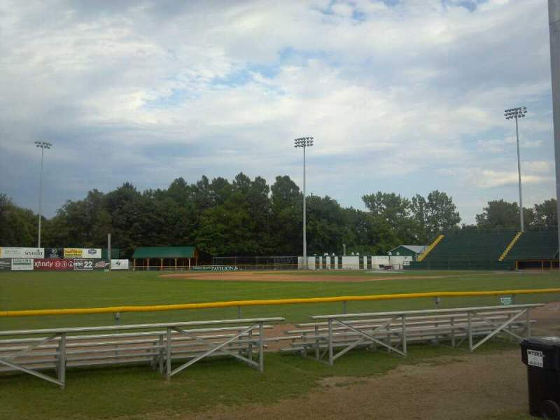 Seating view for Centennial Field Section 3rd Base Fence