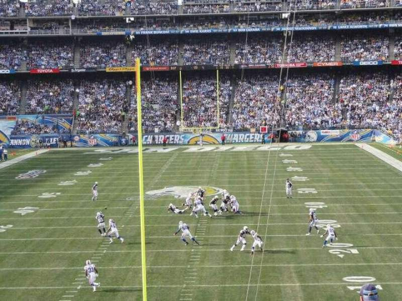 Seating view for Qualcomm Stadium Section P52