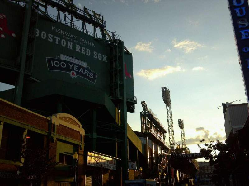 Seating view for Fenway Park Section Street