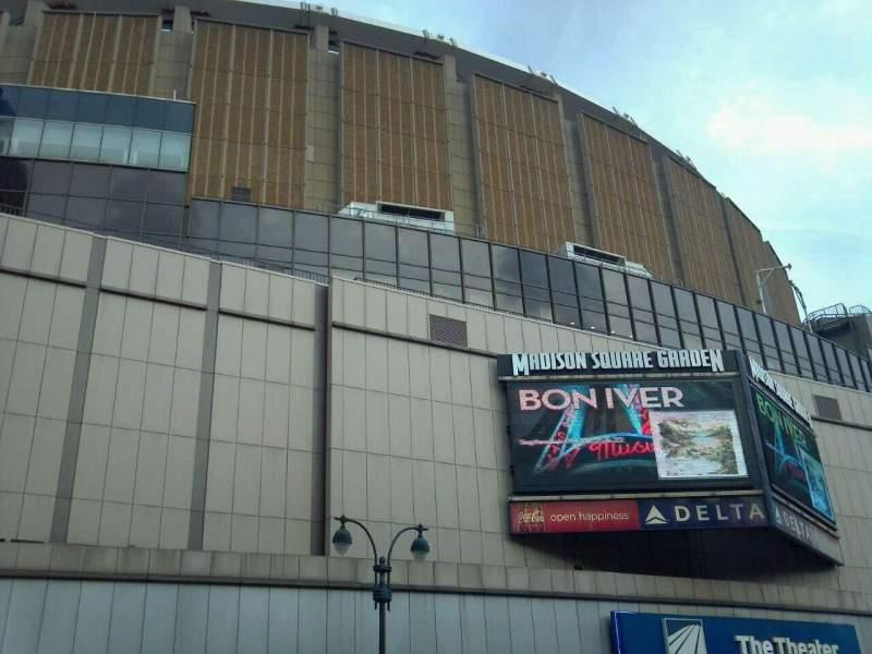 Seating view for Madison Square Garden Section Outside