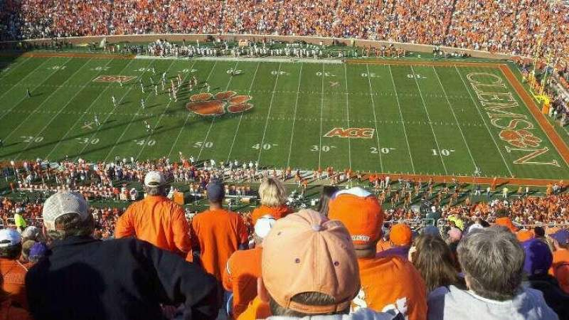 Seating view for Memorial Stadium, Clemson Section TDC
