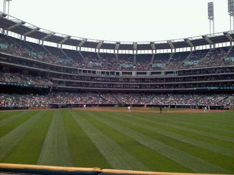 Seating view for Progressive Field Section 101