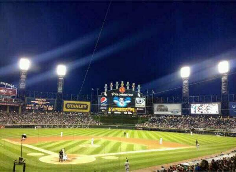 Seating view for Guaranteed Rate Field Section 130