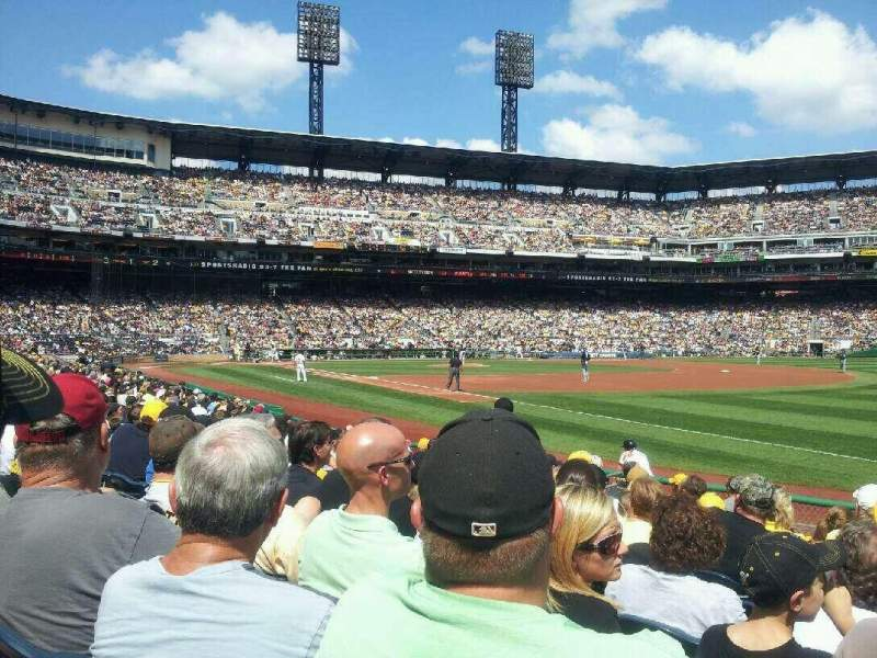 Seating view for PNC Park Section 4 Row M Seat 1