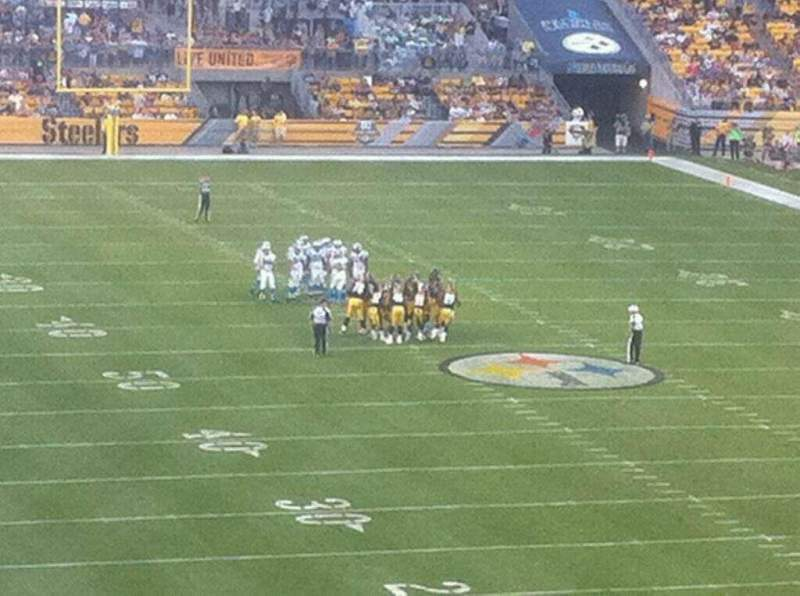 Seating view for Heinz Field Section NC-005