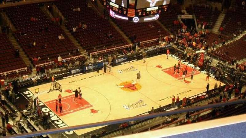 Seating view for United Center Section 321