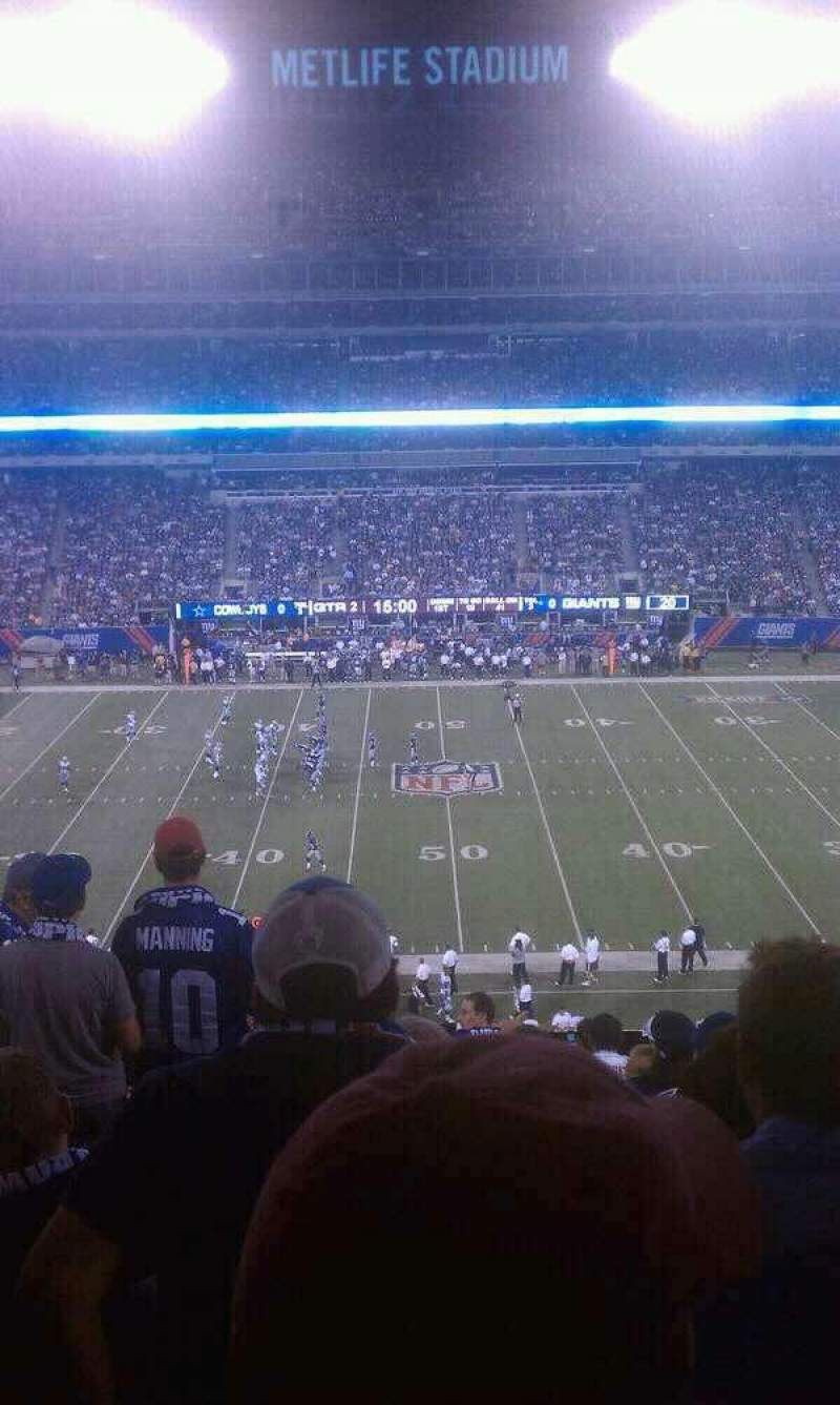 Seating view for MetLife Stadium Section 239 Row 14 Seat 12