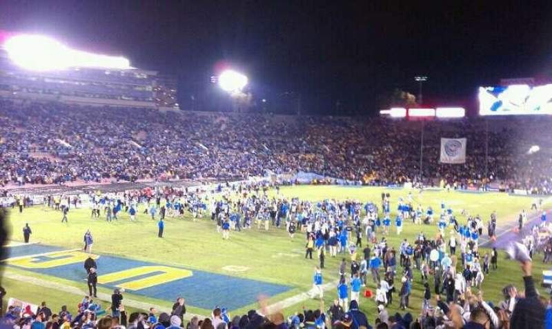 Seating view for Rose Bowl Section 14