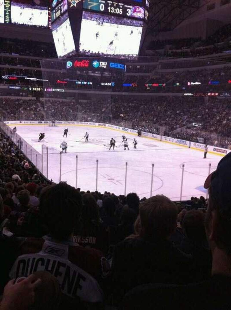 Seating view for American Airlines Center Section 114 Row V Seat 3