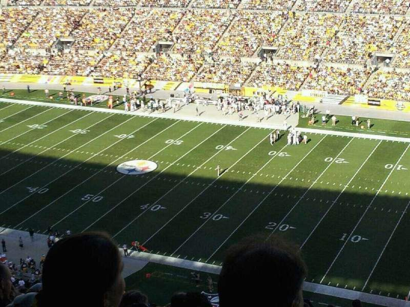 Seating view for Heinz Field Section 539 Row EE