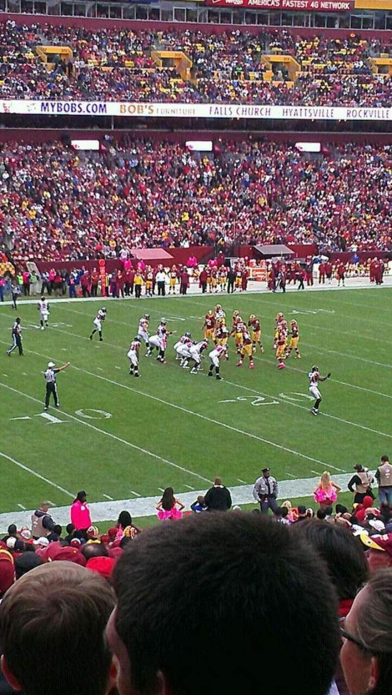 Seating view for FedEx Field Section 226 Row 5 Seat 14