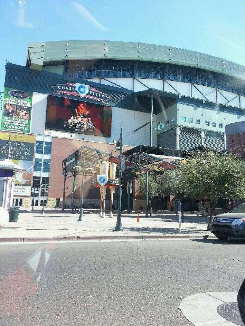 Seating view for Chase Field Section Outside