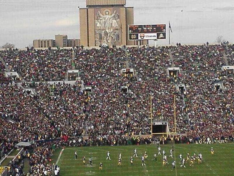Seating view for Notre Dame Stadium