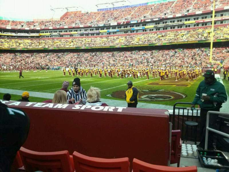 Seating view for FedEx Field Section 138 Row 3 Seat 2