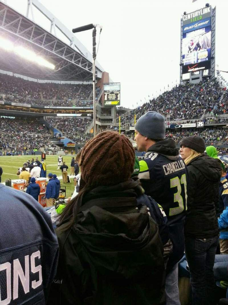 Seating view for CenturyLink Field Section 109 Row C Seat 21