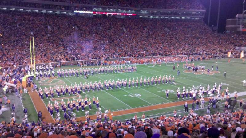 Seating view for Memorial Stadium, Clemson Section K Row QQ Seat 27