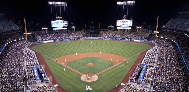Seating view for Dodger Stadium Section 1TD Row A Seat 4