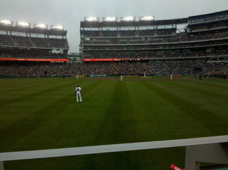 Seating view for Nationals Park Section 104 Row A Seat 10