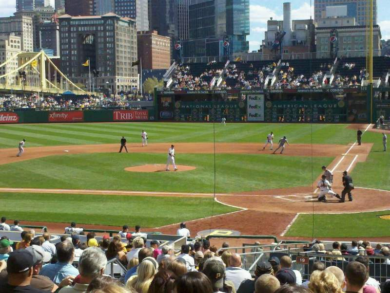 Seating view for PNC Park Section 119 Row Q Seat 18