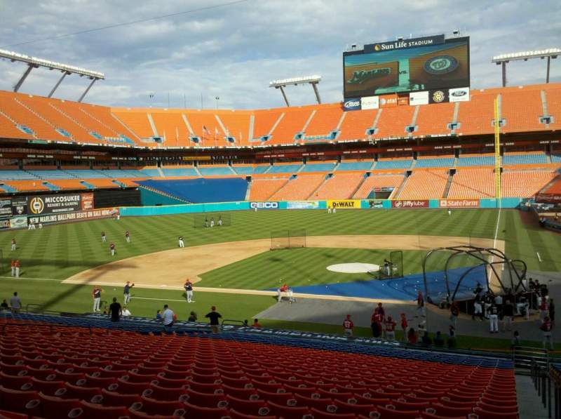 Seating view for Hard Rock Stadium Section Old