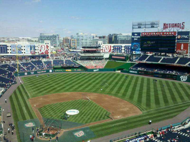 Seating view for Nationals Park Section 416 Row A Seat 19