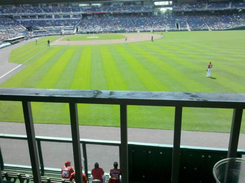 Seating view for Nationals Park Section 138 Row S Seat 2