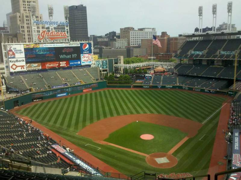 Seating view for Progressive Field Section 556 Row W Seat 1