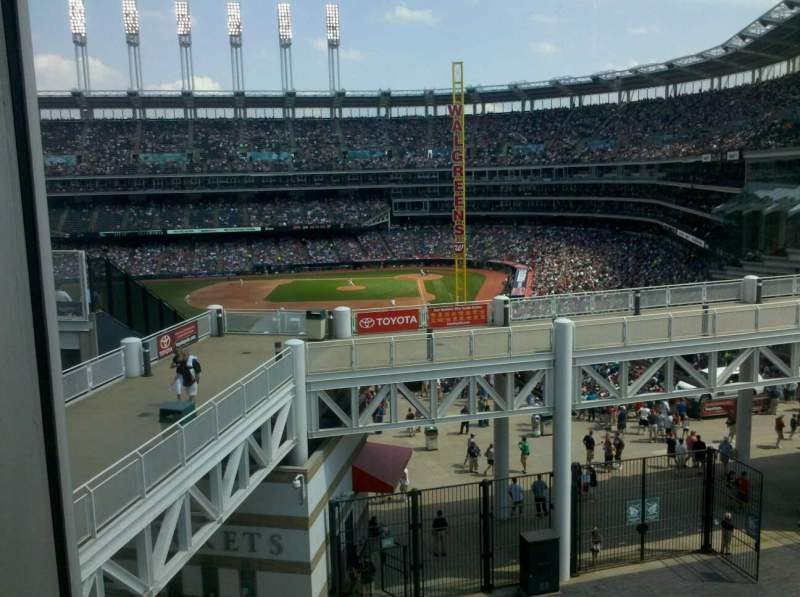 Seating view for Progressive Field Section parking deck