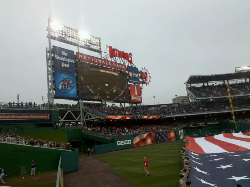 Seating view for Nationals Park Section 104 Row A