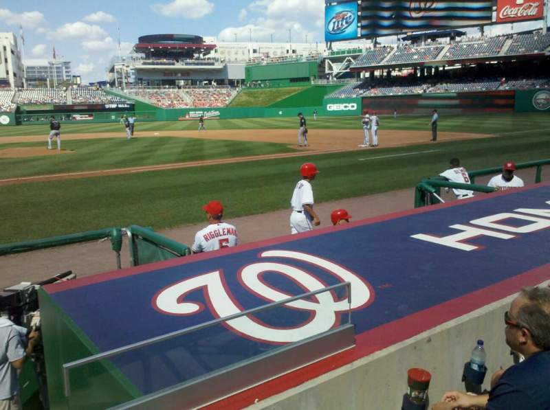Seating view for Nationals Park Section 129 Row F