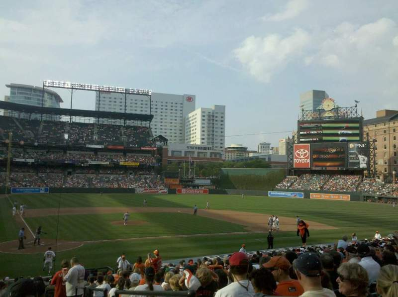 Seating view for Oriole Park at Camden Yards Section 26