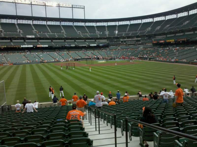 Seating view for Oriole Park at Camden Yards Section 87 Row 24 Seat 1