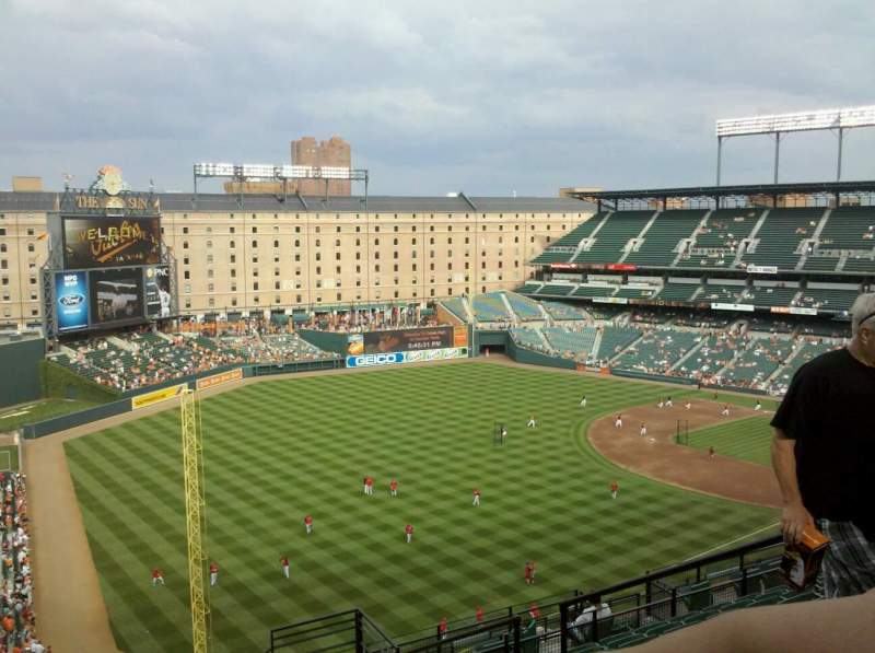 Seating view for Oriole Park at Camden Yards Section 372 Row 18 Seat 5