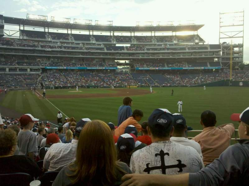 Seating view for Nationals Park Section 137 Row CC Seat 14