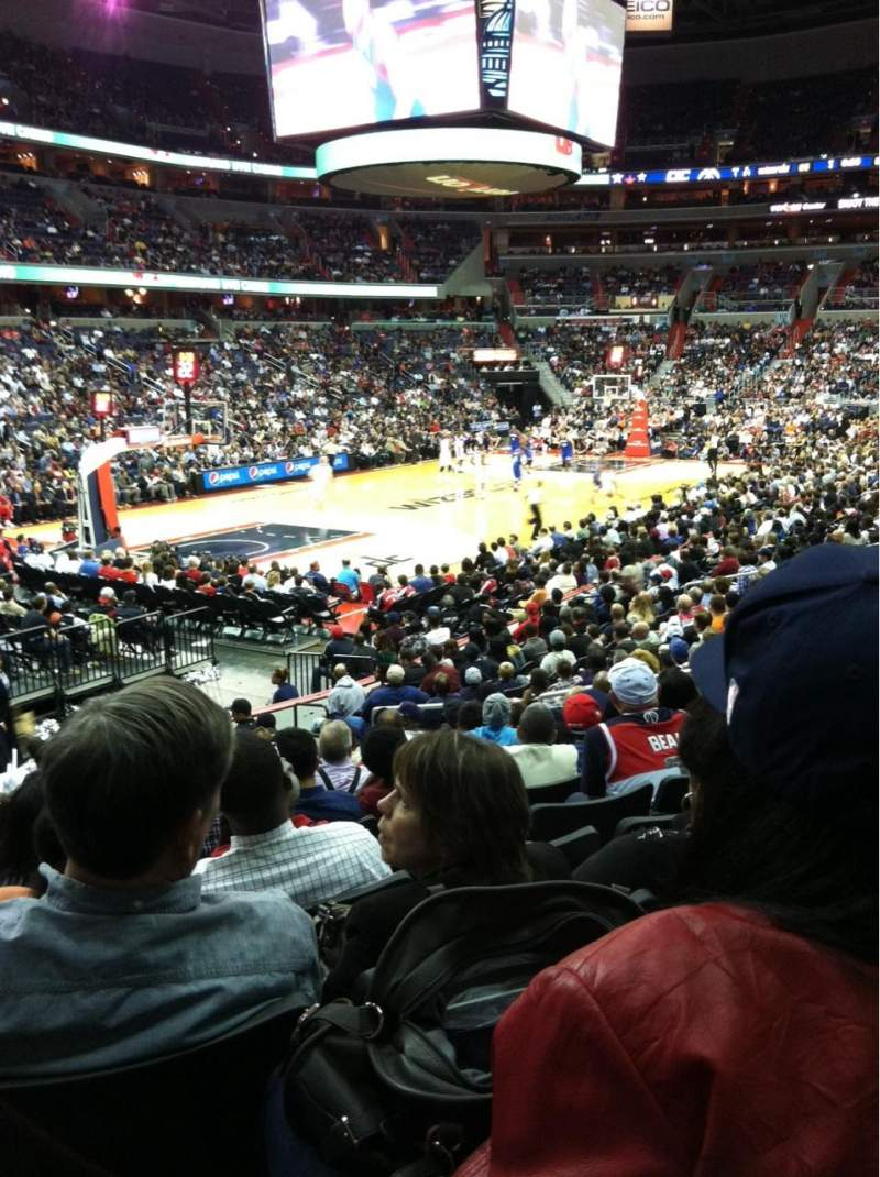 Seating view for Verizon Center Section 108