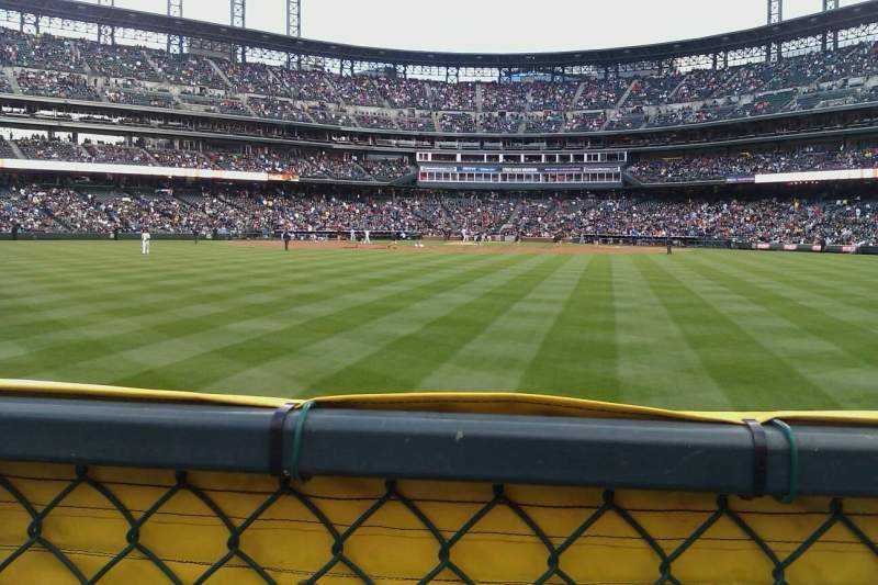 Seating view for Coors Field Section 160 Row 1 Seat 13